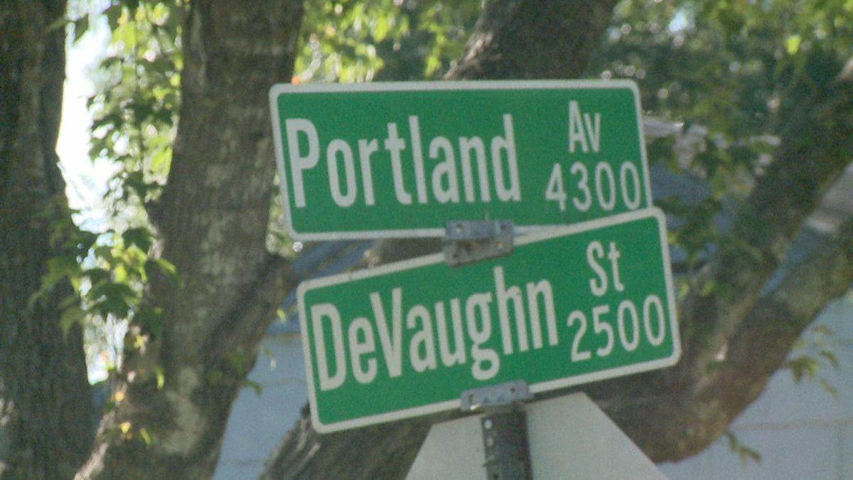 Mother's Day melee - Devaughn street sign