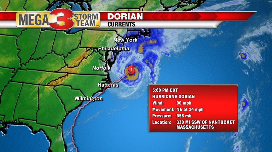 Dorian Currents from the National Hurricane Center