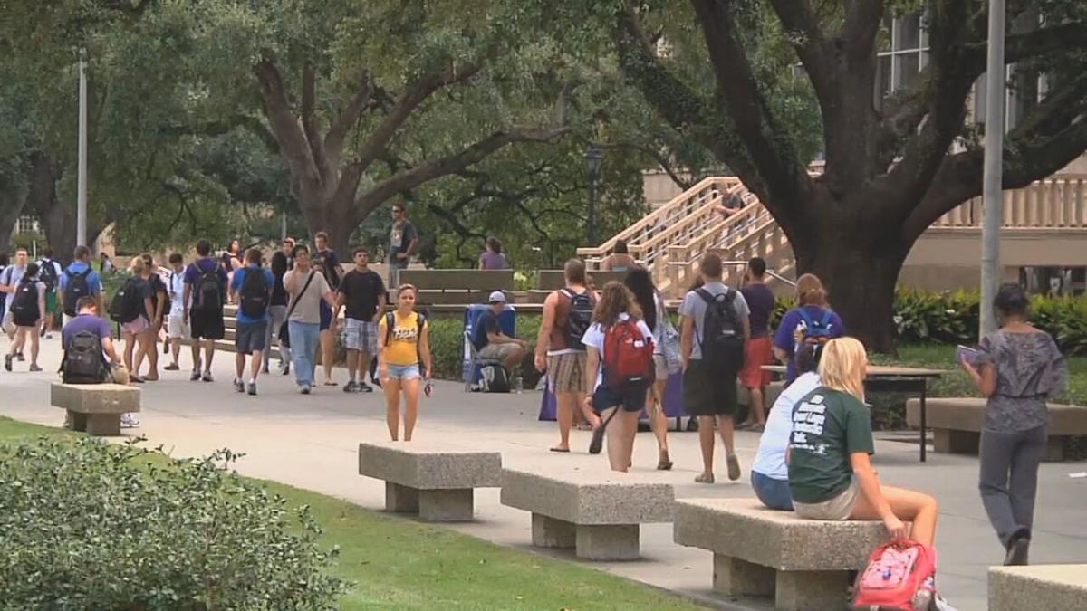 College campus scene