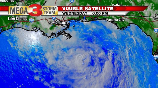 Visible Satellite Image of the developing tropical storm