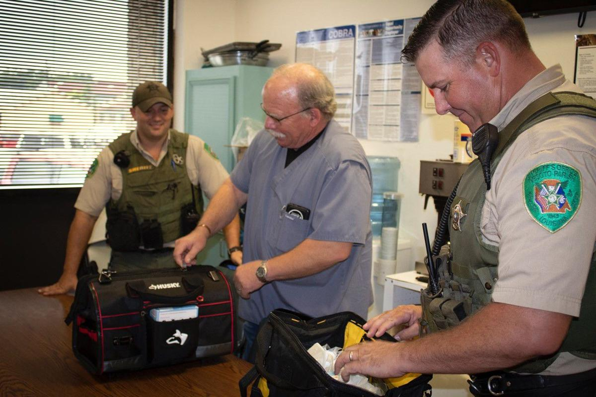 Dr. Ratcliff and DPSO K-9s