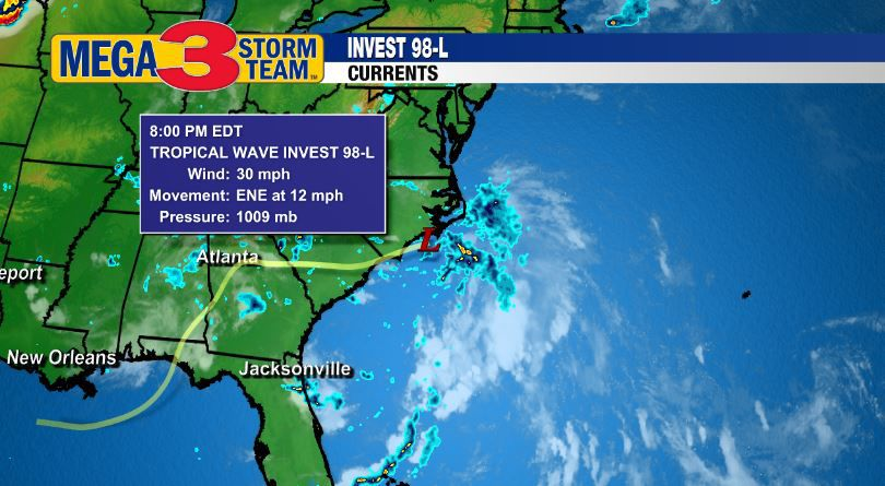 Invest 98-L Currents from the National Hurricane Center