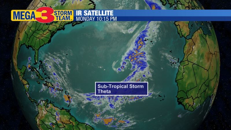 Satellite Image of Sub-Tropical Storm Theta