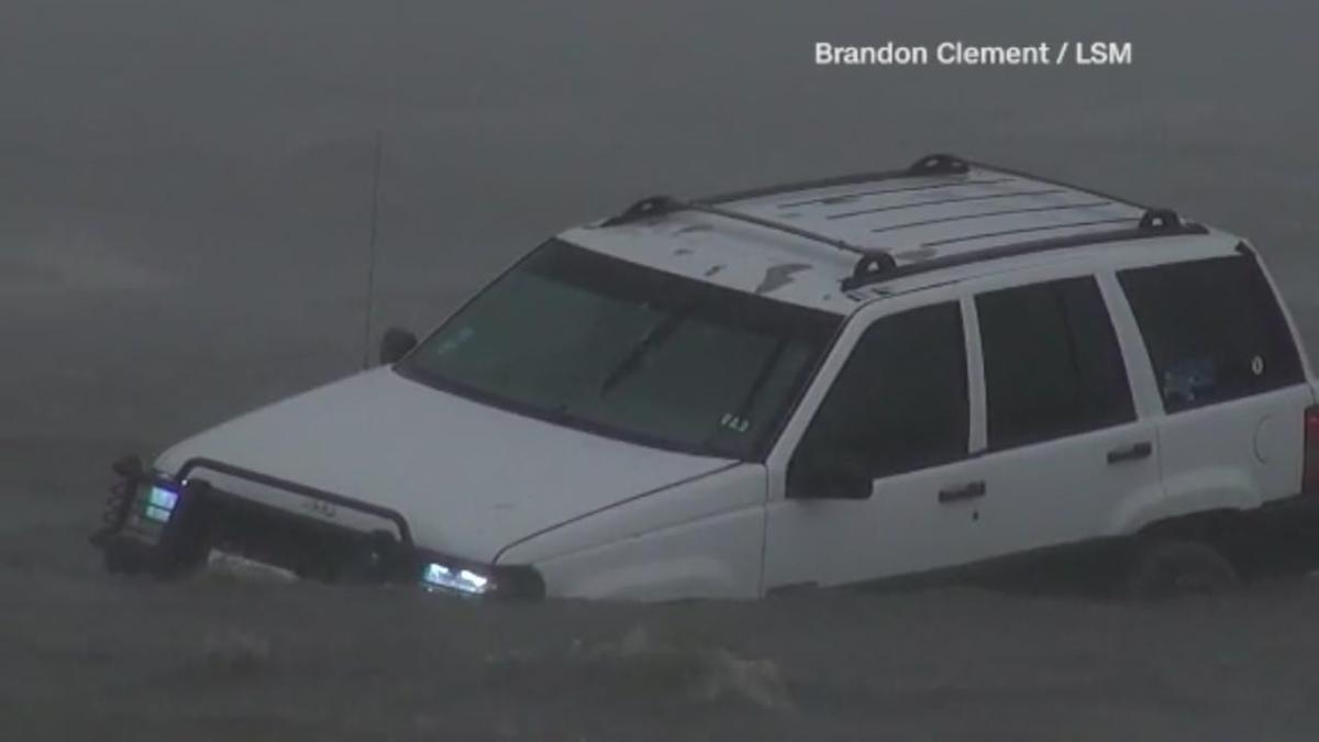 Damaging hurricane harvey settles in over southeast texas