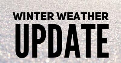 winter weather update graphic