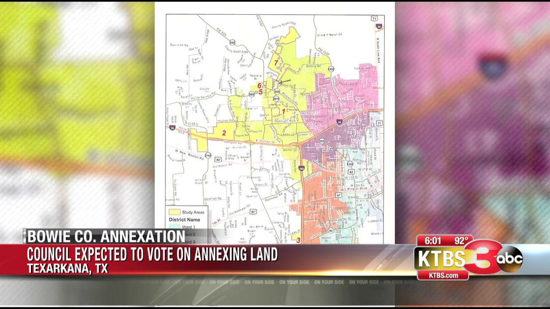 City council expected to vote on Bowie County annexation