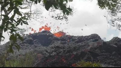 People on the Big Island wake up to falling ash after Kilauea erupts