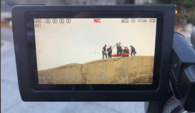 Billings Fire Department conducting a rescue on the rims