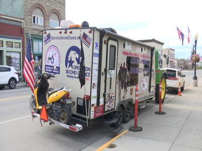 Man drives tractor across country at 15 mph to spread awareness for veterans and first responders