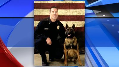 Billings Police K9 Officer Jeremiah Adams and K9 Susan