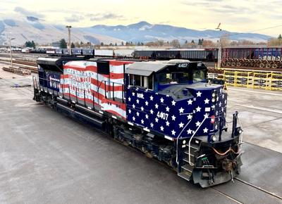 Montana Rail Link pays tribute to veterans, essential workers with special locomotives