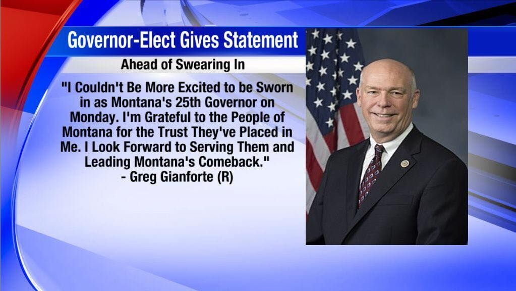 Gianforte Statement Ahead of Swearing In