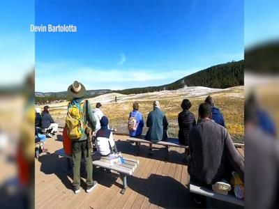 Man caught on video walking dangerously close to Old Faithful geyser in Yellowstone National Park