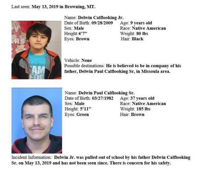 missing boy browning delwin calf looking
