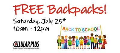 Free backpacks and school supplies at 25 different locations in Montana