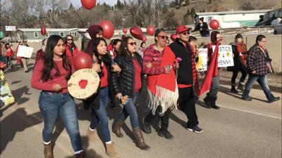 Walk held in Lame Deer to honor Henny Scott, raise awareness for MMIW