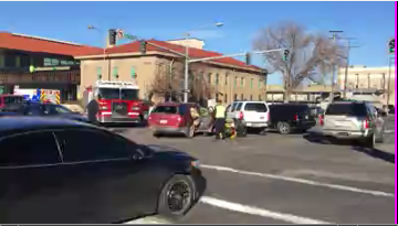 3-vehicle car collision causes traffic jam in Downtown Billings
