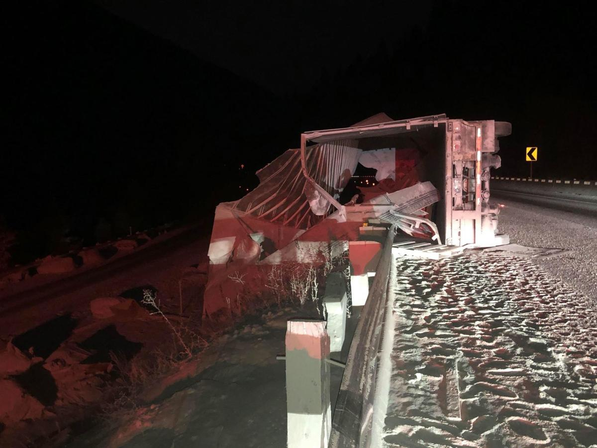I-90 WB now open, EB lanes still closed after semi crash and hazmat spill in St. Regis