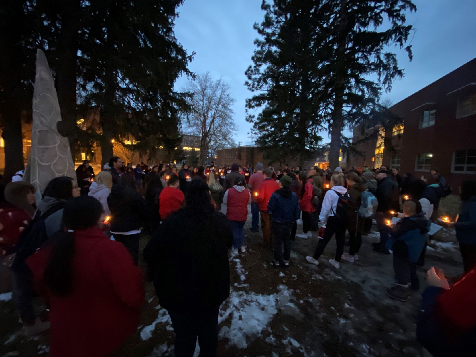 More than a hundred people gather in Missoula for Selena Not Afraid Vigil