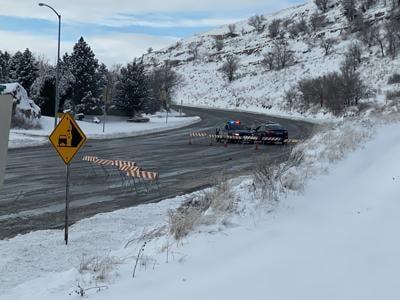 Traffic detoured following head on crash between Rimrock Rd. and Airport roundabout