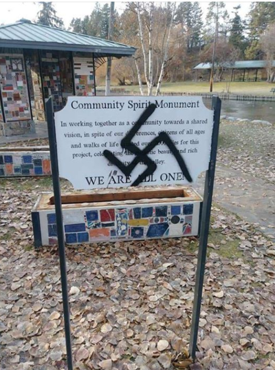Kalispell mayor, anti-discrimination organization, condemns swastika graffiti