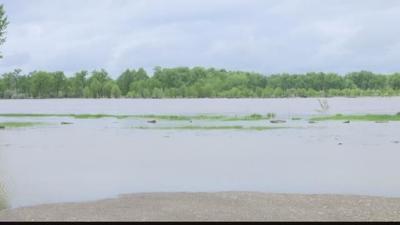 Flooding near Huntley