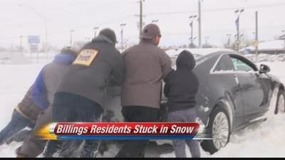 Billings residents stuck in snow