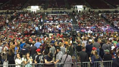 Thousands pack MetraPark to attend Donald Trump rally in Billings