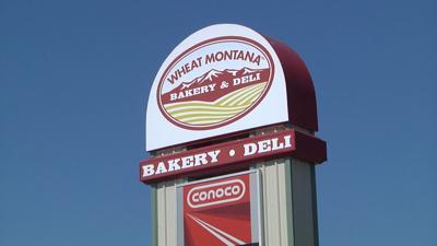 Wheat Montana highway sign