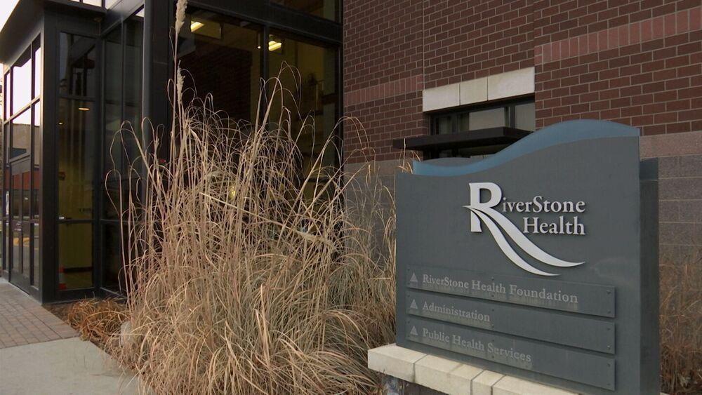 RiverStone Health entrance (fall)
