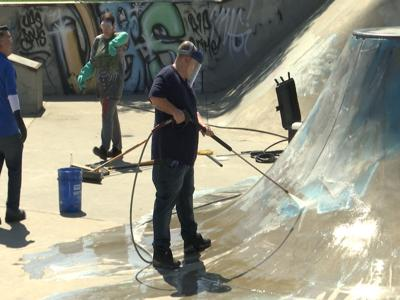 Downtown Billings skate park cleanup