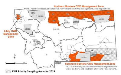 FWP Priority Sampling Areas for 2019