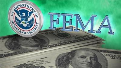 FEMA provides federal funds to help fight fires