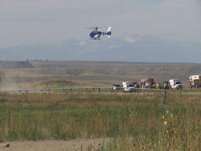 Three seriously injured in crash west of Laurel
