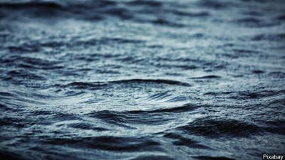 Water waves stock image
