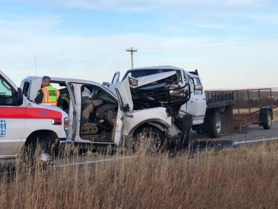 Head-on collision sends two to the hospital