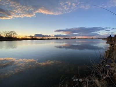 Sunset on Columbia lake photo vault image