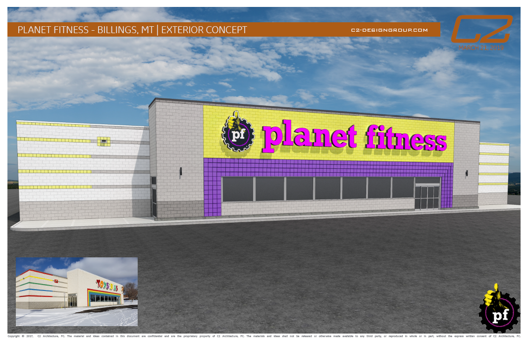 Planet Fitness Rendering Exterior Front