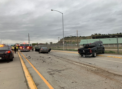 Four people injured in three vehicle crash on U.S. Hwy 87 E