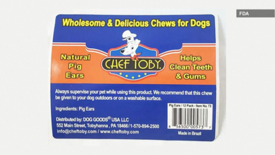 Pig ear dog treats recalled due to possible salmonella contamination