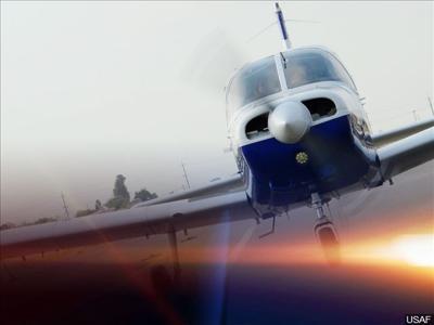 Small plane emergency landing
