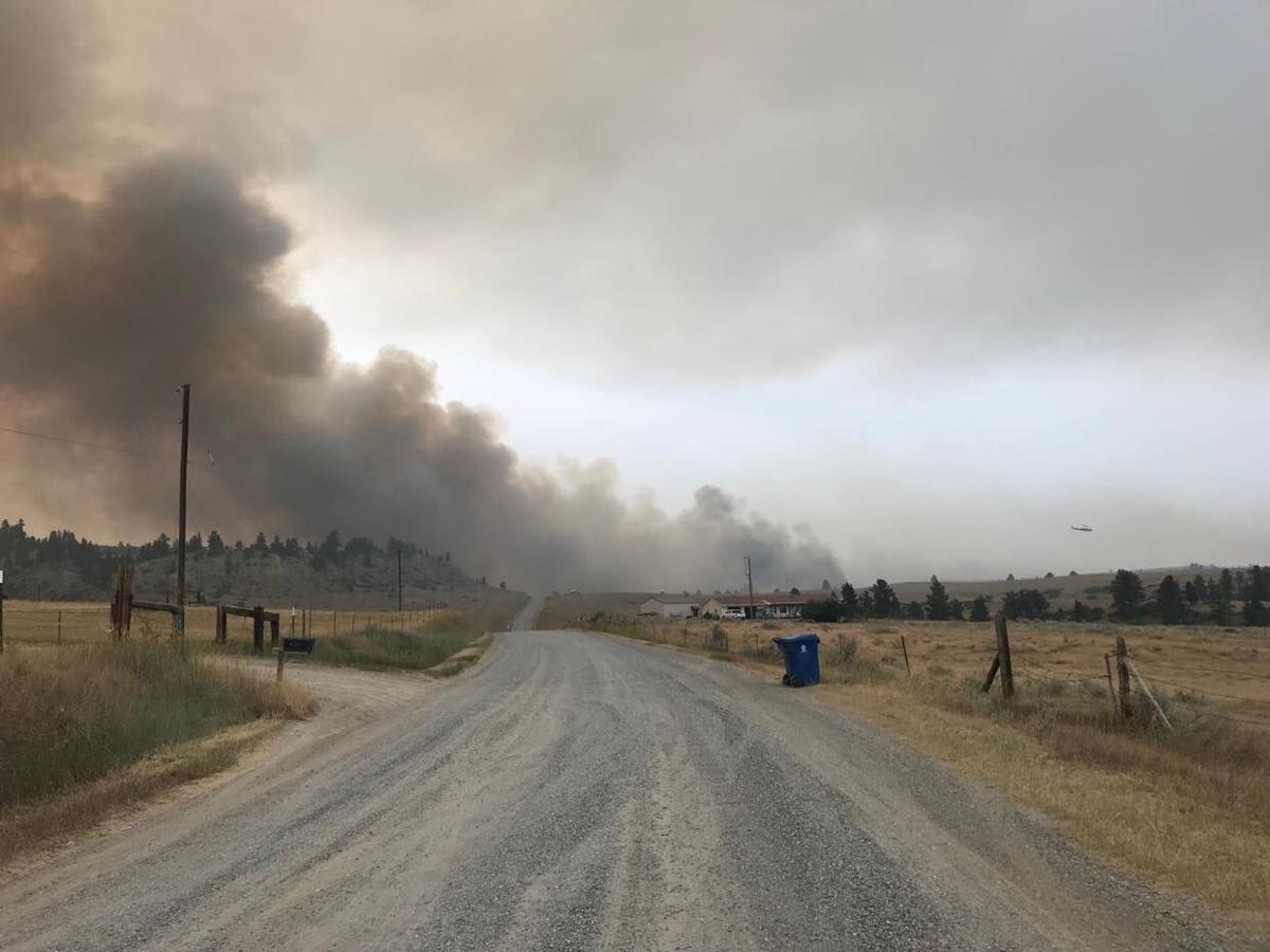fire burning northeast of Joliet