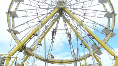 Mighty Thomas Carnival Sets Up for MontanaFair