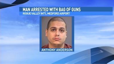 Man with bag of guns at airport