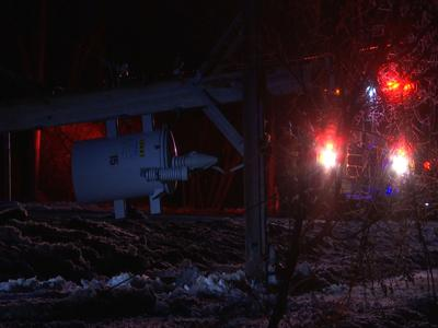 Vehicles crashes into power pole causing power outage in areas of Lockwood