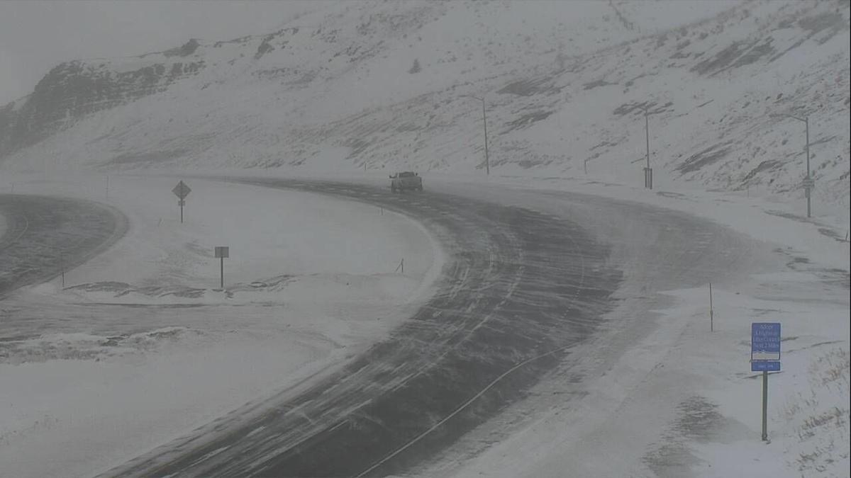 Bozeman Pass blowing snow 020919
