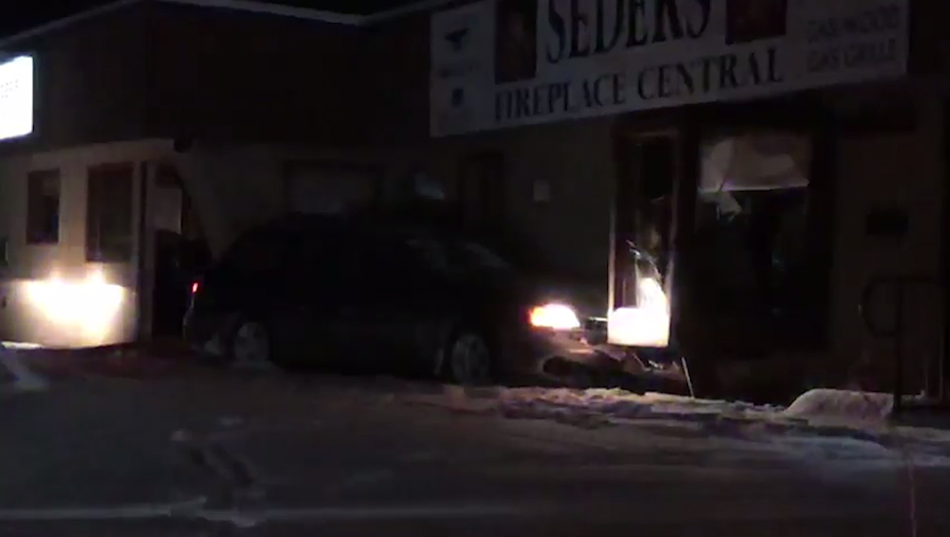 Vehicle crashes into Billings business
