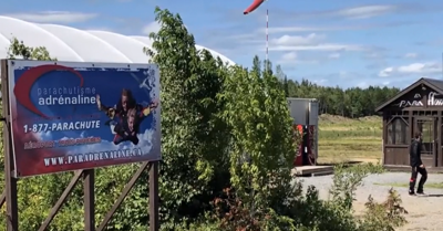 A woman is recovering after her parachute fails to open while skydiving