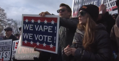 Pro vaping advocates gather in DC to keep vaping products available to consumers