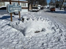 Snow sculptures pop up near Lake Elmo Mobile Home Court